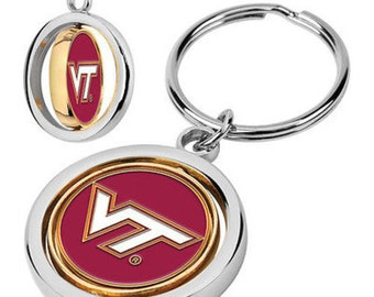 Virginia Tech Hokies Spinner Keychain