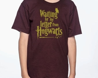Waiting for my Letter from Hogwarts Harry Potter Inspired T shirt Sweatshirt Tank