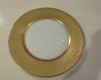 USA GOLD PLATED Ransgil Dinner China Plate