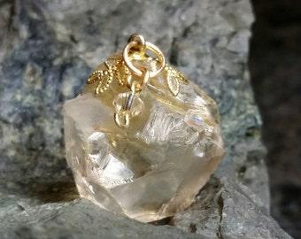 Natural Citrine & Gold-filled Pendant