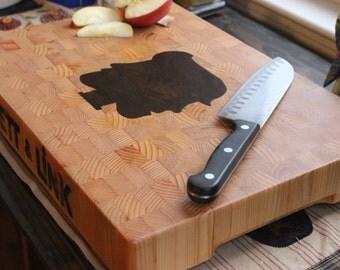 Custom Inlay End Grain Cutting Board