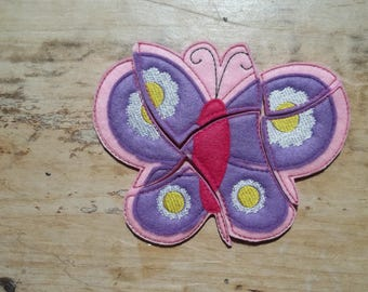 READY TO SHIP Butterfly Puzzle :  Jigsaw Puzzle , Educational , Toddler , Toy. Basket Filler Stocking Stuffer. Party Favor