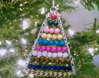 Montessori Ornament~Bead Stair, wooden beads