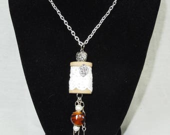 Quilting, Sewing, Thimble, Spool Necklace