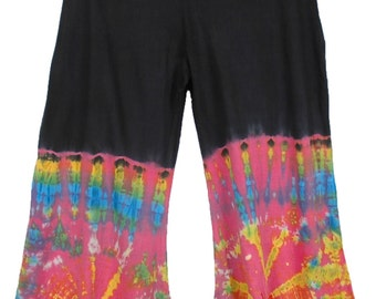 Tie Dye Wide-Leg Hippie Lounge Trousers
