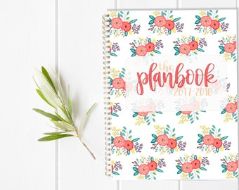 PRIMARY Teacher Lesson Planbook - One Year Fill in Calendar Planner - Weekly Planbook - Monthly education educator teaching organizational