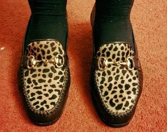 Vintage HB pony skin vintage loafers - Size UK 4.