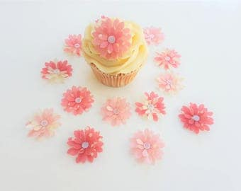 14 Edible Lillie Collection 3D Wafer Flowers Cupcake Toppers Precut