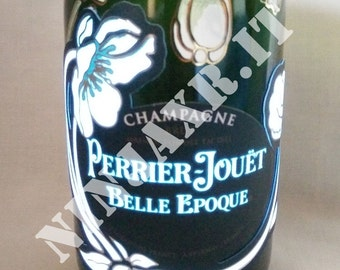 Jar of Champagne Perrier Jouet Belle Epoque Luminous gift idea furniture d