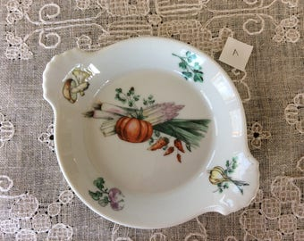 Vintage Apilco France Serving Dish / Exclusive Chamart Plate