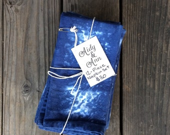 SALE* 12-Piece, Hand-Dyed, Cloth Napkin Set