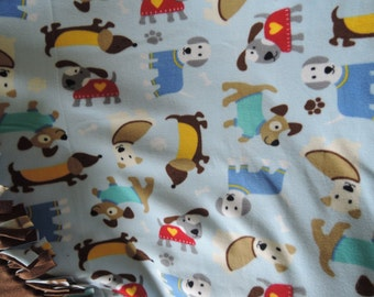 No Sew Fleece Blanket, Dogs