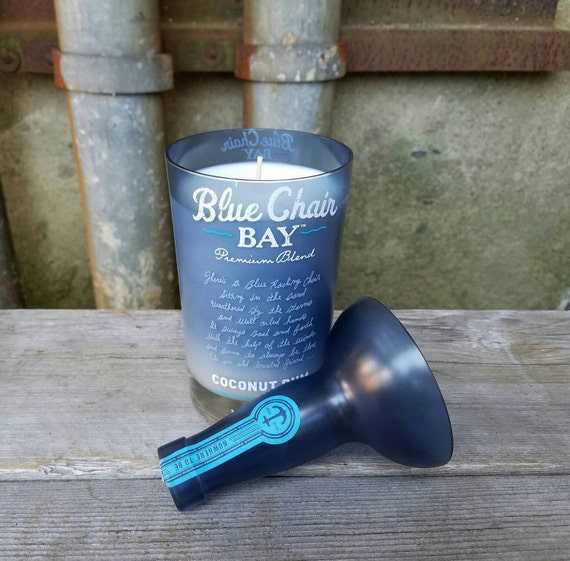 blue chair bay rum liquor bottle scented soy by rewineit02346