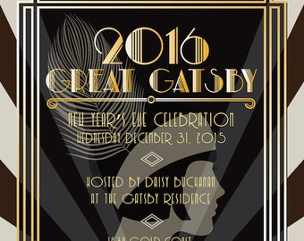 gatsby invitation etsy - Great Gatsby Party Invitations