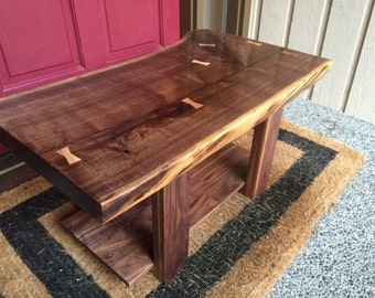 SOLD - Live Edge Black Walnut End Table