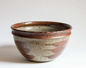 Helle Allpass Denmark, Elegant Studio Pottery Stoneware Bowl
