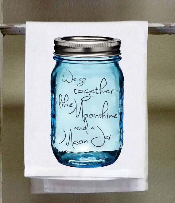 Mason Jar Kitchen: Mason Jar Kitchen TowelDish Towel White Decorative We