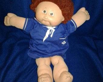 1982 Cabbage Patch Sailor suit doll clearance reddish hair popcorn hair one tooth