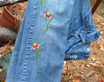 SUMMER SALE !!!!!    Silver Jeans Hand Embroidered Jeans 27/29