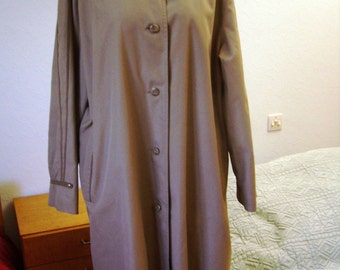 Trench coat, Brown raincoat, 1970s, female size XL 48/50