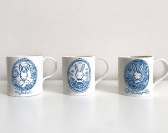 Custom Made Bunny Mug - Choose Your Favorite Bunny! Personalize option available.
