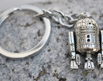 R2D2 Star Wars Keyring Keychain Steampunk look!