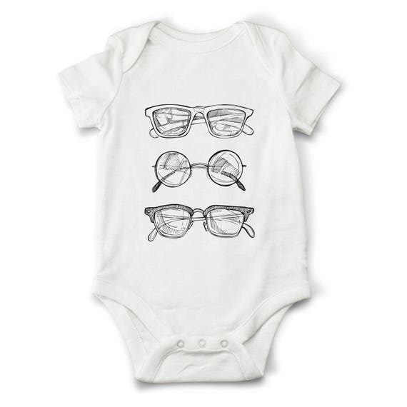 Unique Trendy Baby Gifts : Sunglasses baby bodysuit cute onesie by oldcauldrongifts