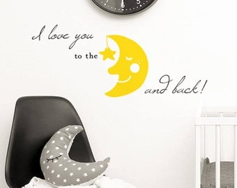 I love you to the moon and back Decal ~ Item 0460