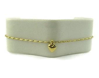 Vintage Minimalist Heart Bracelet