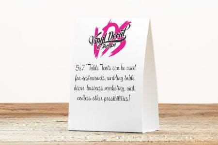 Custom Table Tents Wedding Table Numbers Table Tents Printed Table Tent Business Marketing Restaurant Table Wedding Table Tents  sc 1 st  VinylDecalShoppe & Custom Table Tents Wedding Table Numbers Table Tents Printed ...