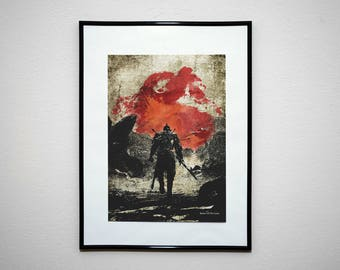 The Bearer Of The Curse - Video Game Grunge Wall Art Print Poster.