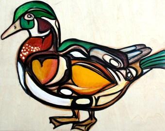 Wood Duck Original Painting
