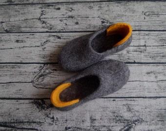 Flat shoes Felt slippers Wool slippers Felt gift Ladies slippers womens slippers woolen slippers felted shoes wool shoes
