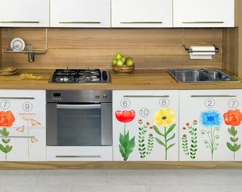 Giant Yellow Flower Decal No.8   Floral Wall Decal   Nursery Decor   Furniture