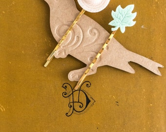 Decorative Hair Pins, Spring Summer Wedding, Bridal Hair Clip, Bobby Pin, Whimsical Hair, Gift for Her, Under 10