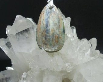 Natural Kyanite Teardrop Pendant.