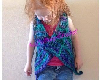 Lacy Waves Toddler Vest Crochet Pattern *PDF FILE DOWNLOAD* Instant Download