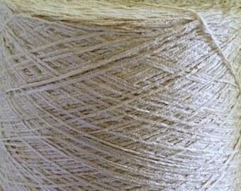 Chenille Yarn Cone Machine Knitting Yarn Quaker Dyecraft Acrylic Knitting Machine Yarn Super Soft Yarn Rich Wheat Colored Yarn Cone Destash