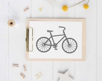 Bike Drawing Print