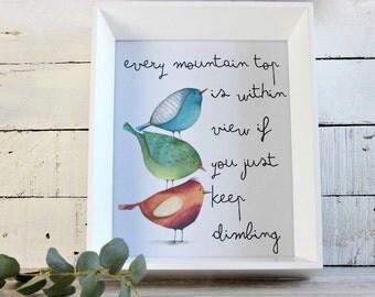 Bird nursery decor, Bird Print, Bird Nursery Art, Woodland nursery decor, Baby Room Wall Art, Baby Nursery Print, Woodland Nursery Art