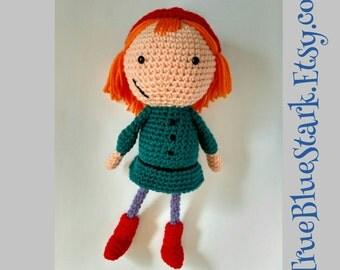 Peg + Cat stuffed toy. Peg  inspired by Peg + Cat cartoon handmade crochet READ ITEM DETAILS below
