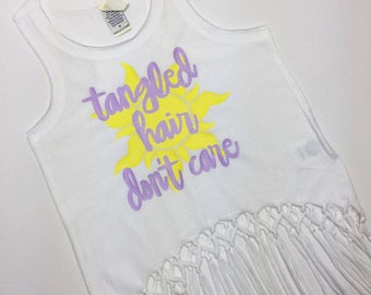Tangled Hair Don't Care fringe tee