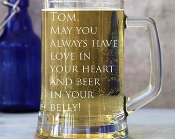 Personalised 'In Your Belly' One Pint Tankard