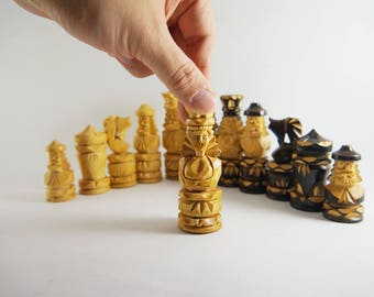Chess Wooden chess set chess board with wooden chess pieces New Hand Crafted chess Original Chess hand made chess big chess