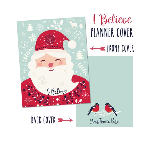 Personalized Planner Cover ~ I Believe ~ Perfect for Christmas - Many Planner Sizes Available!