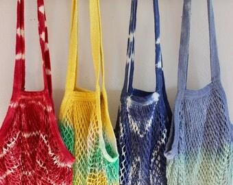 Tiedye Market Tote, Produce Bag, Reusable Bag
