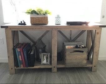 Console Wood Sofa Table