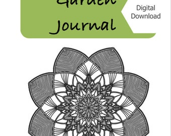 Printable Garden Journal/ Guided journal/ mindfulness techniques/ writing prompts/ garden relaxation/ gifts for gardeners/ DIGITAL DOWNLOAD