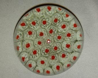 Millefiori Glass Art Paperweight