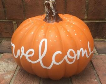Craft Pumpkin - Welcome